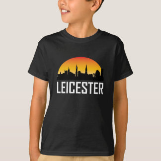 Sunset Skyline of Leicester England T-Shirt
