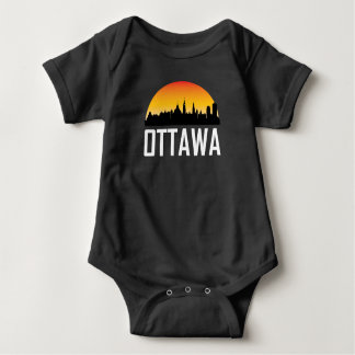 Sunset Skyline of Ottawa ON Baby Bodysuit