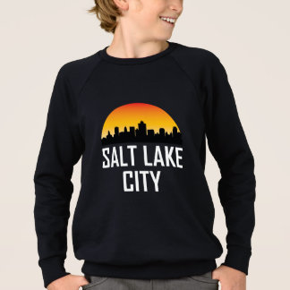 Sunset Skyline of Salt Lake City UT Sweatshirt