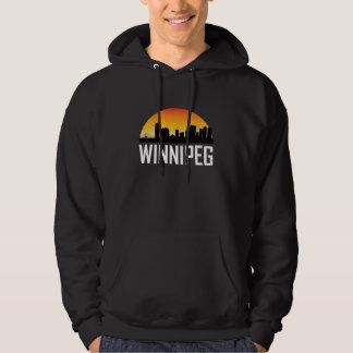 Sunset Skyline of Winnipeg MB Hoodie