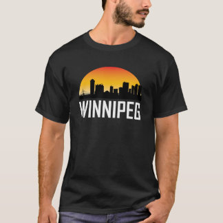 Sunset Skyline of Winnipeg MB T-Shirt