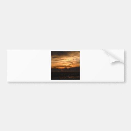 Sunset Smokey Haze Bumper Sticker