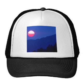 Sunset Smoky Mountain Tennessee Trucker Hat