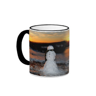 Sunset Snowman Mug