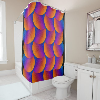 Sunset Soft Cells Shower Curtain