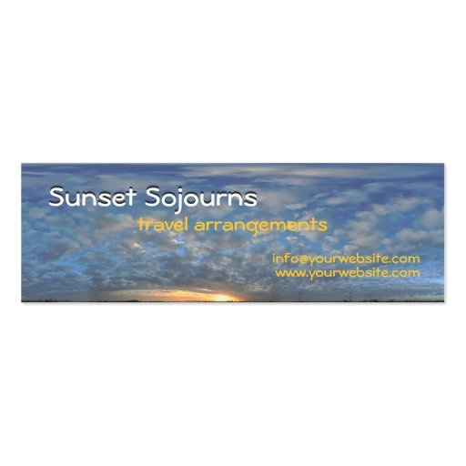 Sunset Sojourns Travel Agent Business Cards