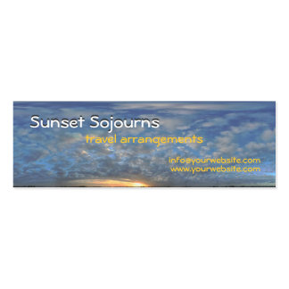 Sunset Sojourns Travel Agent Pack Of Skinny Business Cards