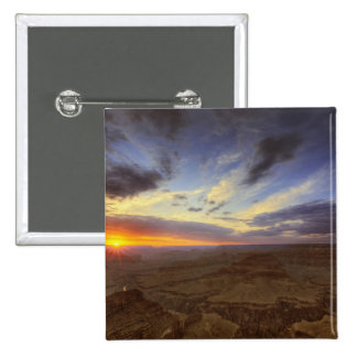 Sunset, south rim of the Grand Canyon, Grand 15 Cm Square Badge