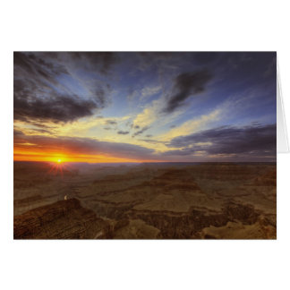 Sunset, south rim of the Grand Canyon, Grand Greeting Card