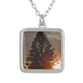 Sunset Square Pendant Necklace