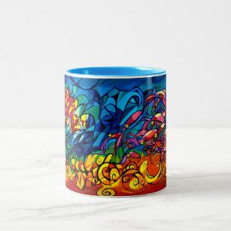 Sunset Squid Two-Tone Mug