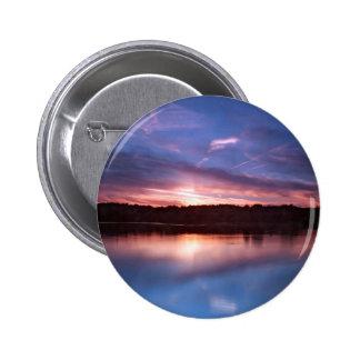 Sunset Still Lake At Dusk Button