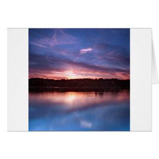 Sunset Still Lake At Dusk Cards