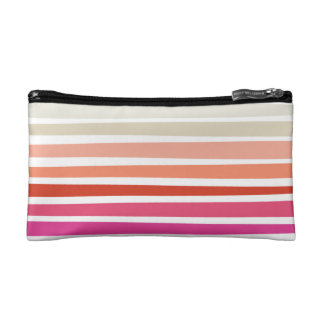 Sunset Stripe Cosmetics Bag