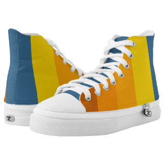 Sunset stripes pattern high tops