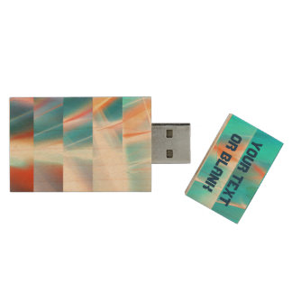 Sunset Strips Wood USB 2.0 Flash Drive