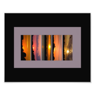 Sunset Strips Photographic Print