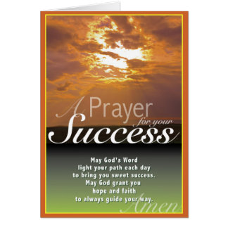 Sunset Success Card