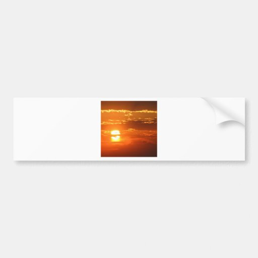 Sunset Sunbeam Sky Bumper Stickers
