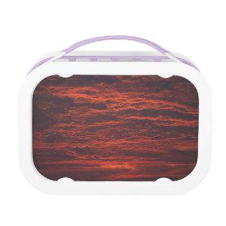 Sunset Sunrise Clouds School Lunchbox