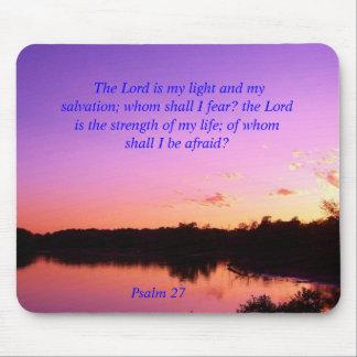 Sunset sunrise Psalms Purple Mouse Pad