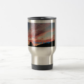 sunset, Sunset In NH Stainless Steel Travel Mug
