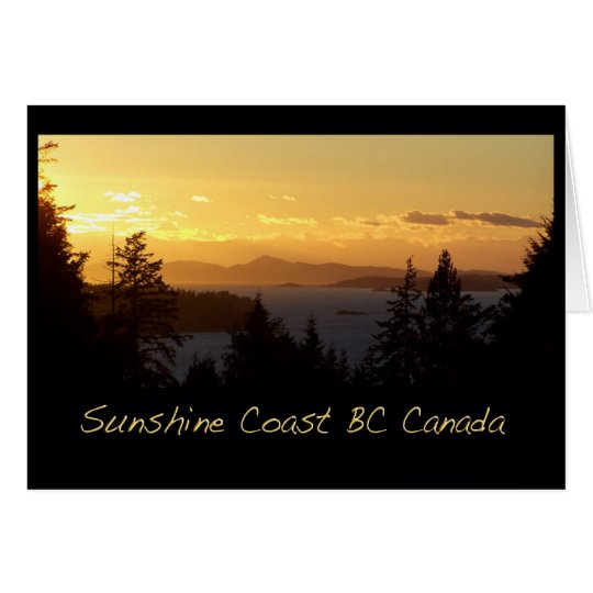 Sunset Sunshine Coast BC Card