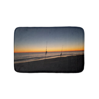 Sunset Surf Fishing Bath Mat