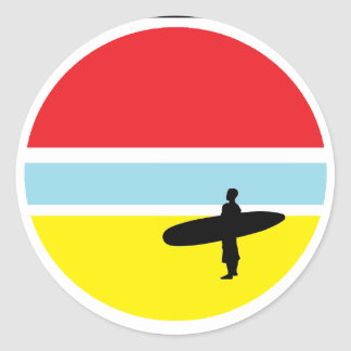 Sunset Surfer Sticker