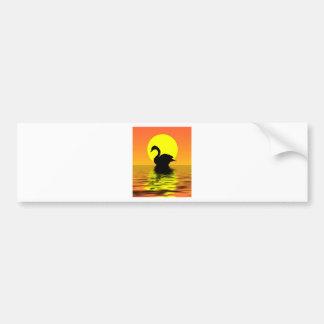 Sunset Swan Bumper Sticker