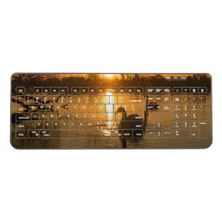 Sunset Swan Wireless Keyboard