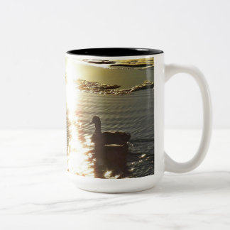 Sunset Swim Two-Tone Coffee Mug