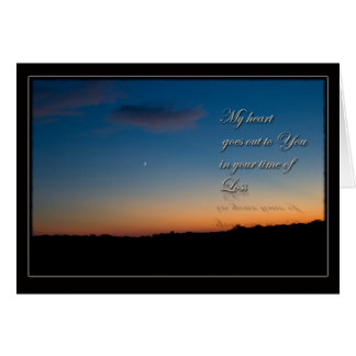 Sunset Sympathy Get Well Card