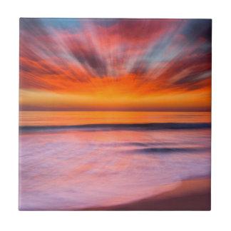 Sunset Tamarack Beach | Carlsbad, CA Ceramic Tile
