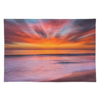Sunset Tamarack Beach   Carlsbad, CA Placemat