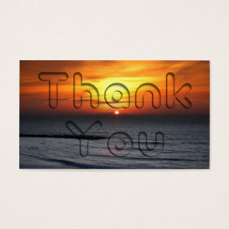Sunset Thank You Business Card