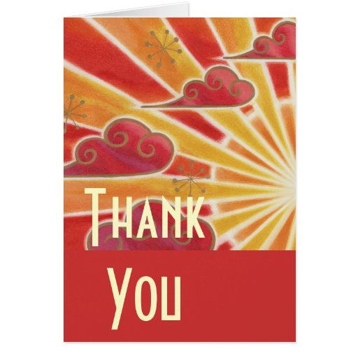Sunset 'Thank You' card