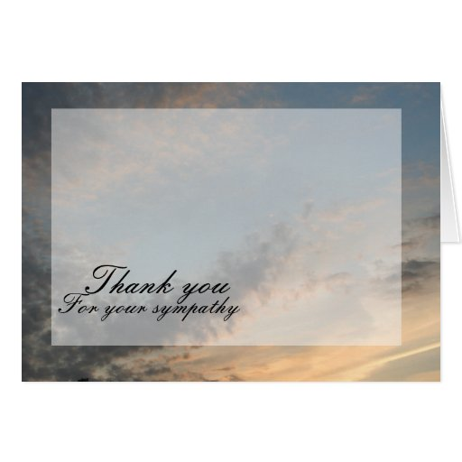 Sunset Thank you Greeting Cards