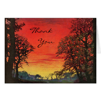 Sunset Thank You Greeting Card