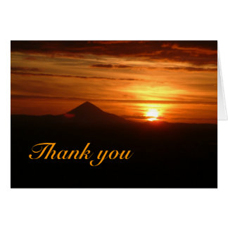 Sunset Thank you Card with words