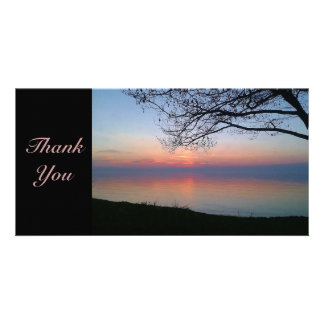 Sunset Thank you Photocard Customized Photo Card