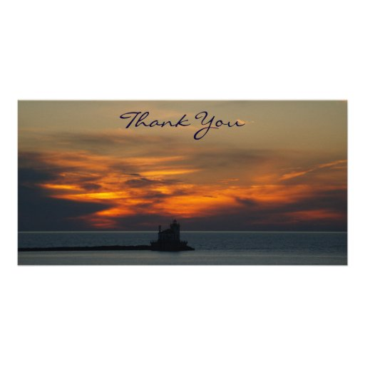 Sunset Thank You Photocard Photo Card Template