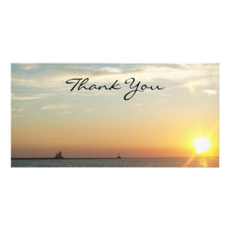 Sunset Thank You Photocard Card