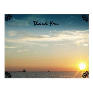 Sunset Thank You Postcard