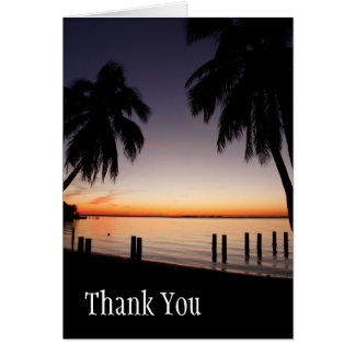Sunset, Thank You Stationary Note Card