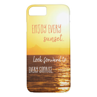 Sunset Themed Phone Case with Quote