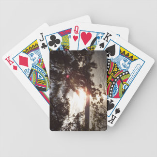 Sunset Through Branches Bicycle Playing Cards