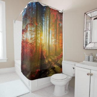 sunset thru the forest shower curtain