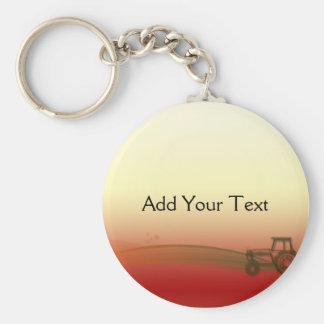 Sunset Tractor Keychain