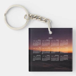 Sunset Transition; 2013 Calendar Single-Sided Square Acrylic Key Ring